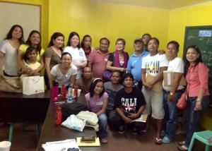 Dr. Carandang, the MLAC Facilitators, and the members of the AMMA Support Group posing together post the session held last September 28, 2014. Representatives from the local LGU and our partner organization, CIAC, also joined us in this photo.