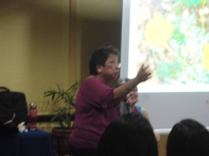 Chairman Eta Rosales relates the talk to her experiences as Chairman of Commission on Human Rights (CHR).