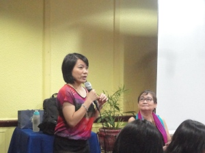 Dr. Joanna Herrerra welcomes the participants and gives a heart-warming background on mindfulness.