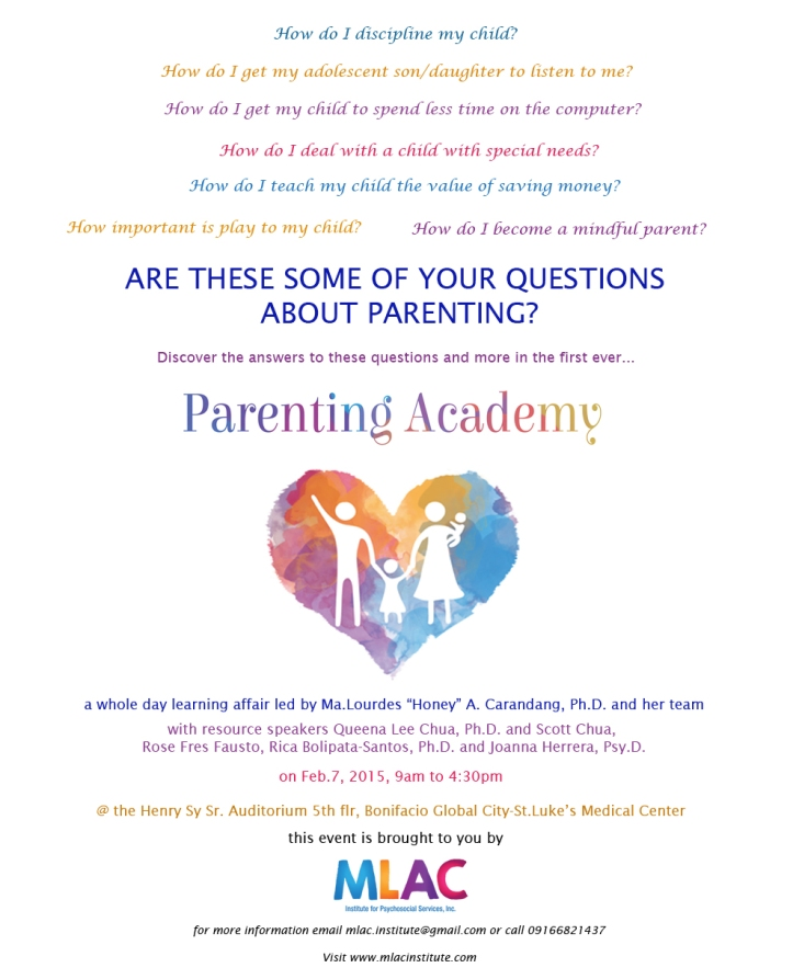 parenting academy flyer