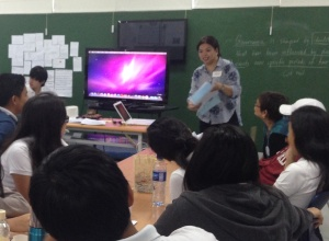 MLAC team member Tess share her group's artworks and discussion.
