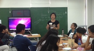 MLAC team member Dindi shares her group's artworks and discussion.