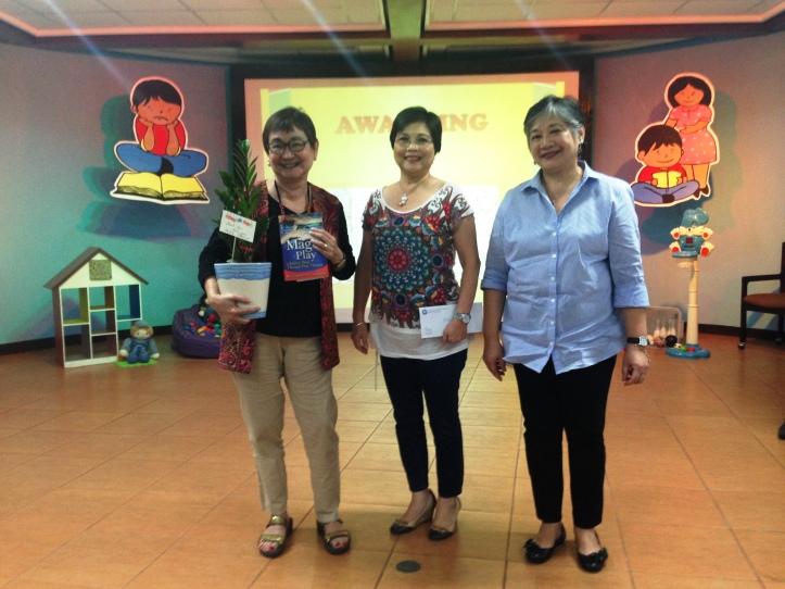 Dr. Carandang with PMHA's Regina de Jesus and Agnes de Leon