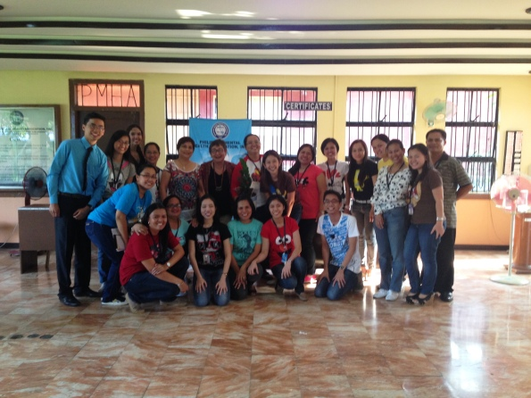 Dr. Carandang with the PMHA Staff