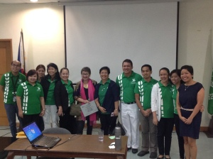 Dr. Carandang with the OCCS staff.