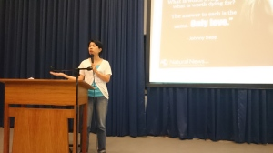 MLAC Team Member talks to the teachers