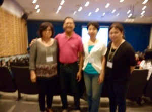 MLAC Team Members Riza and Tess with Mayor Alexis San Luis of Pili, Camarines Sur and Synergia admin and finance officer Ms. Minnie Manalese...