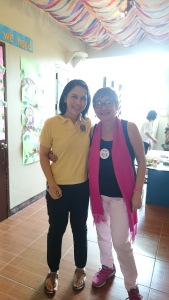 A picture of Dr. Cecile Palma-del Rosario and Dr. Honey Carandang.
