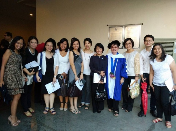 The MLAC team with Doctor of Science, honoris causa, awardee Dr. Honey Carandang.
