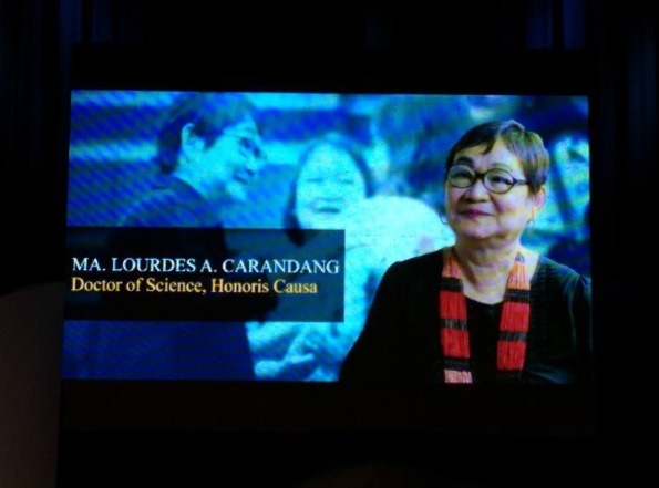 Video at the ADMU special convocation