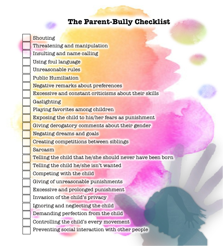 the parent-bully checklist