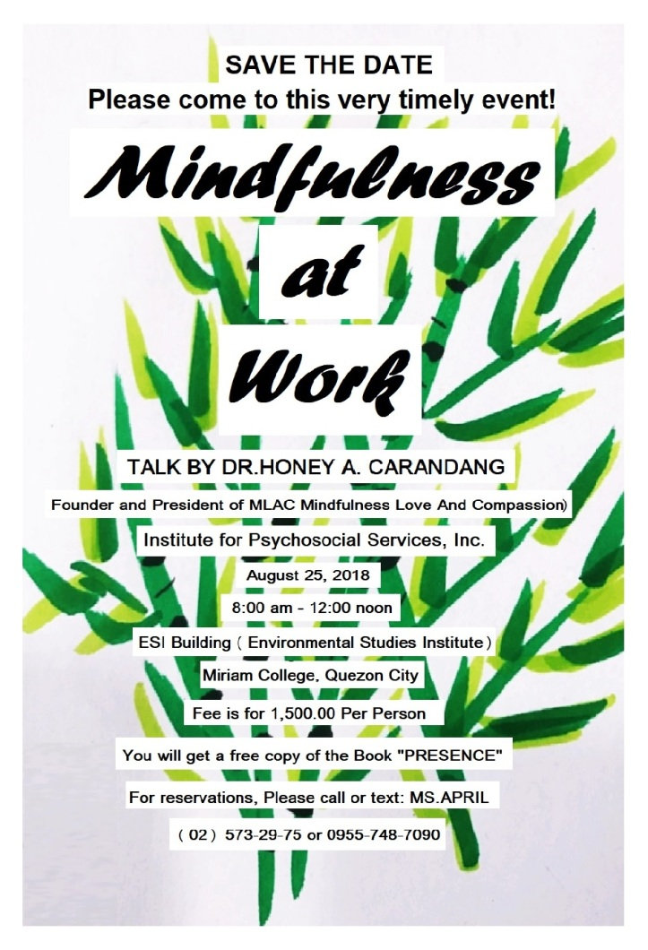 POSTER MINDFULNESS